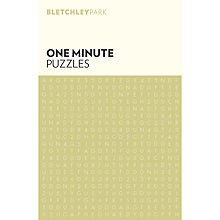 Buy One Minute Puzzles Book Online at johnlewis.com