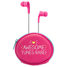 Buy Happy Jackson Awesome Tunes Earphones & Pouch Online at johnlewis.com