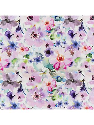 Indigo Fabrics Watercolour Flowers Print Fabric