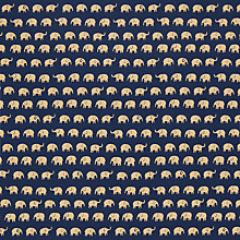 Buy John Louden Elephant Fabric, Navy Online at johnlewis.com