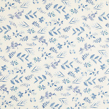 Buy Sevenberry Leaf Stencil Print Fabric, Blue Online at johnlewis.com