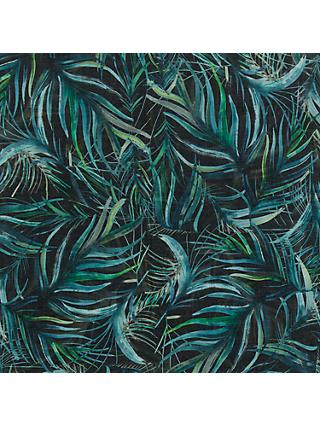 John Lewis Palms Fabric, Green