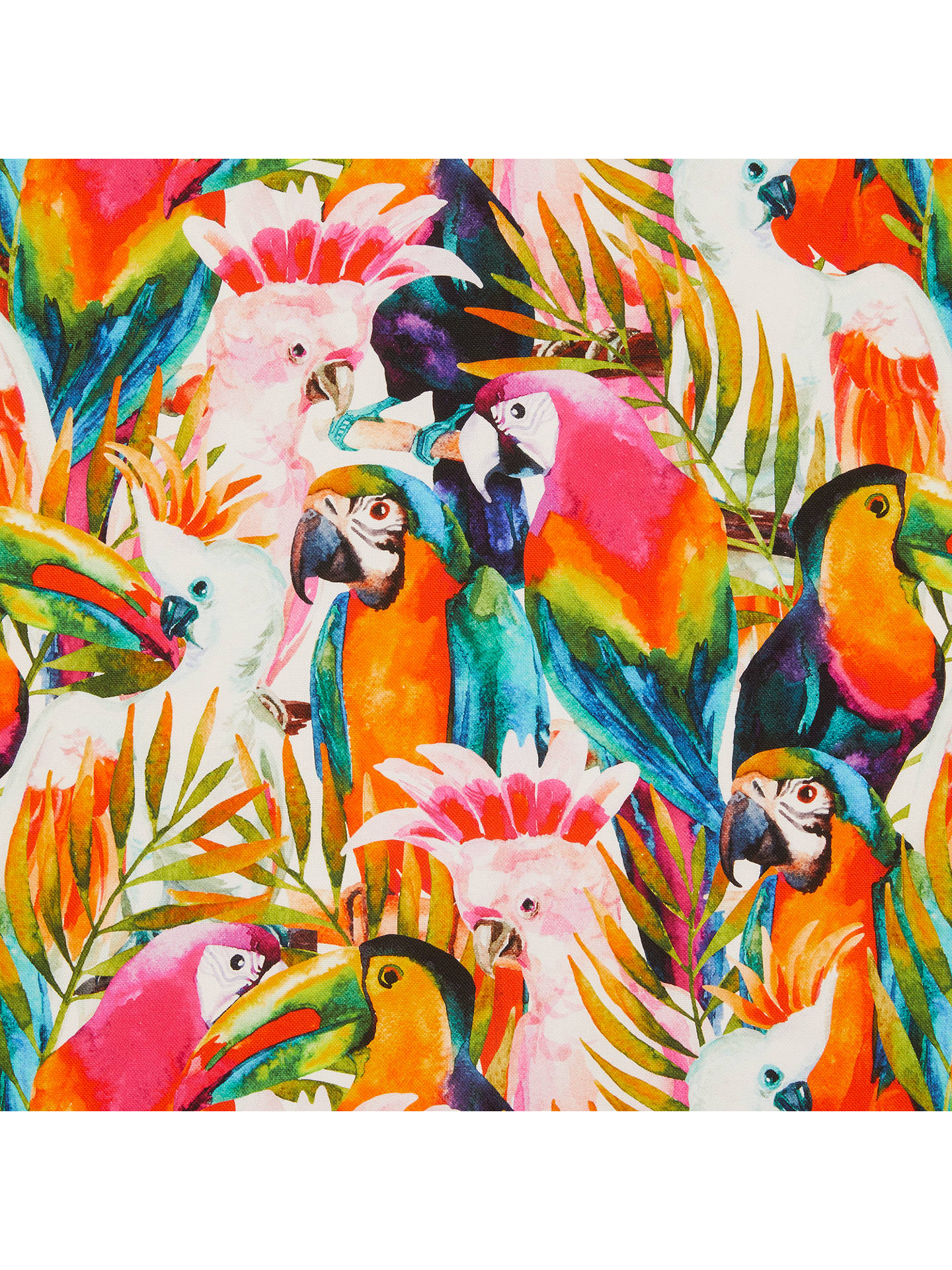 John Louden Tropical Birds Print Fabric
