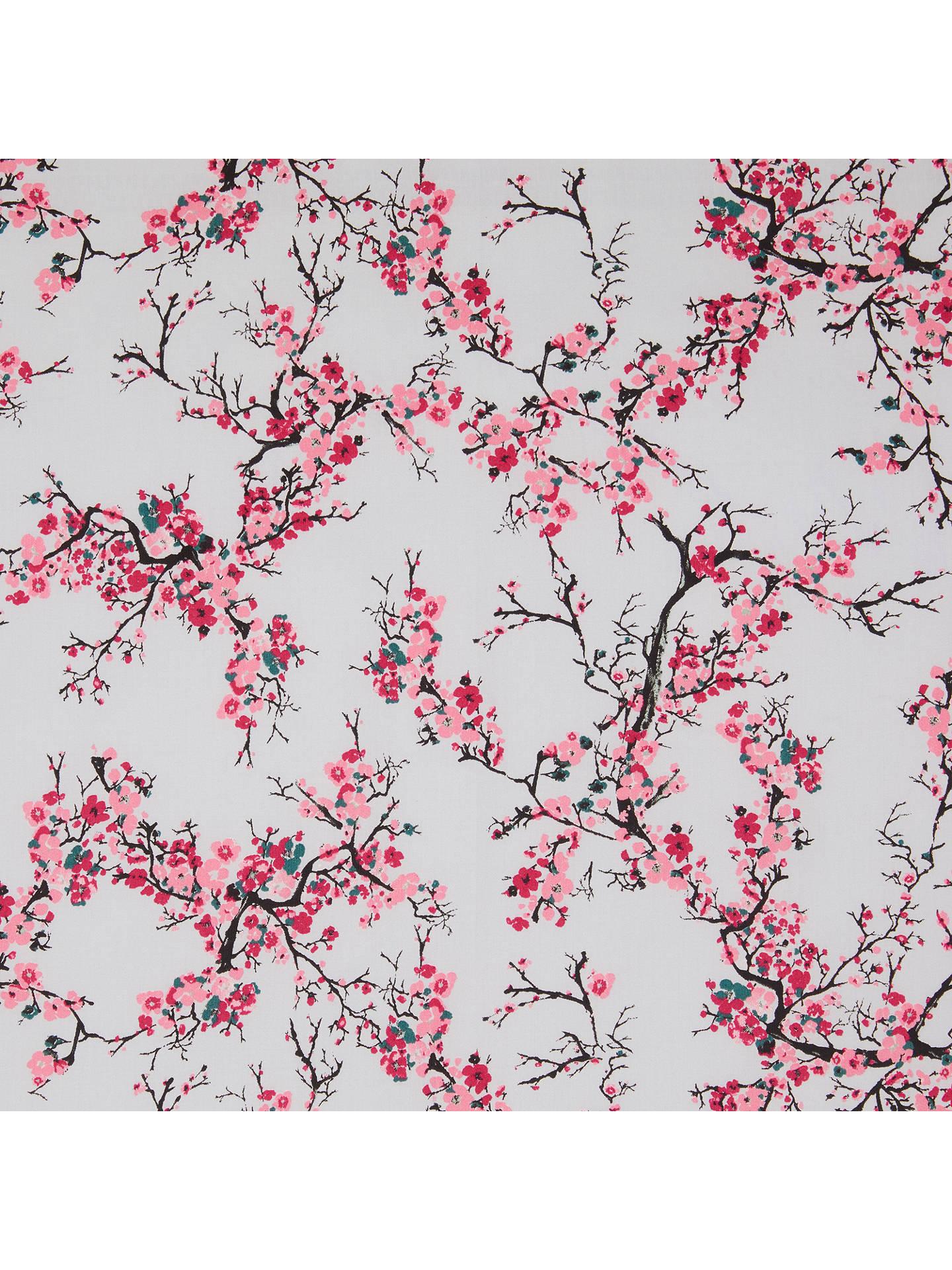 John Louden Japanese Branch Print Fabric, Pink at John Lewis & Partners