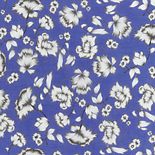 Buy John Lewis Floral Print Fabric, Blue Online at johnlewis.com
