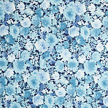 Buy Kokka Floral Print Fabric, Navy Online at johnlewis.com