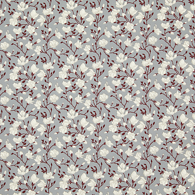 Product photo of Rose hubble floral print fabric grey white
