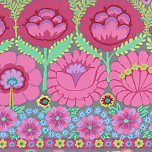 Buy Freespirit Embroidered Flower Border Print Fabric Online at johnlewis.com