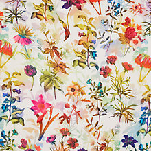 Buy Oddies Textiles Floral Print Fabric, Multi/White Online at johnlewis.com