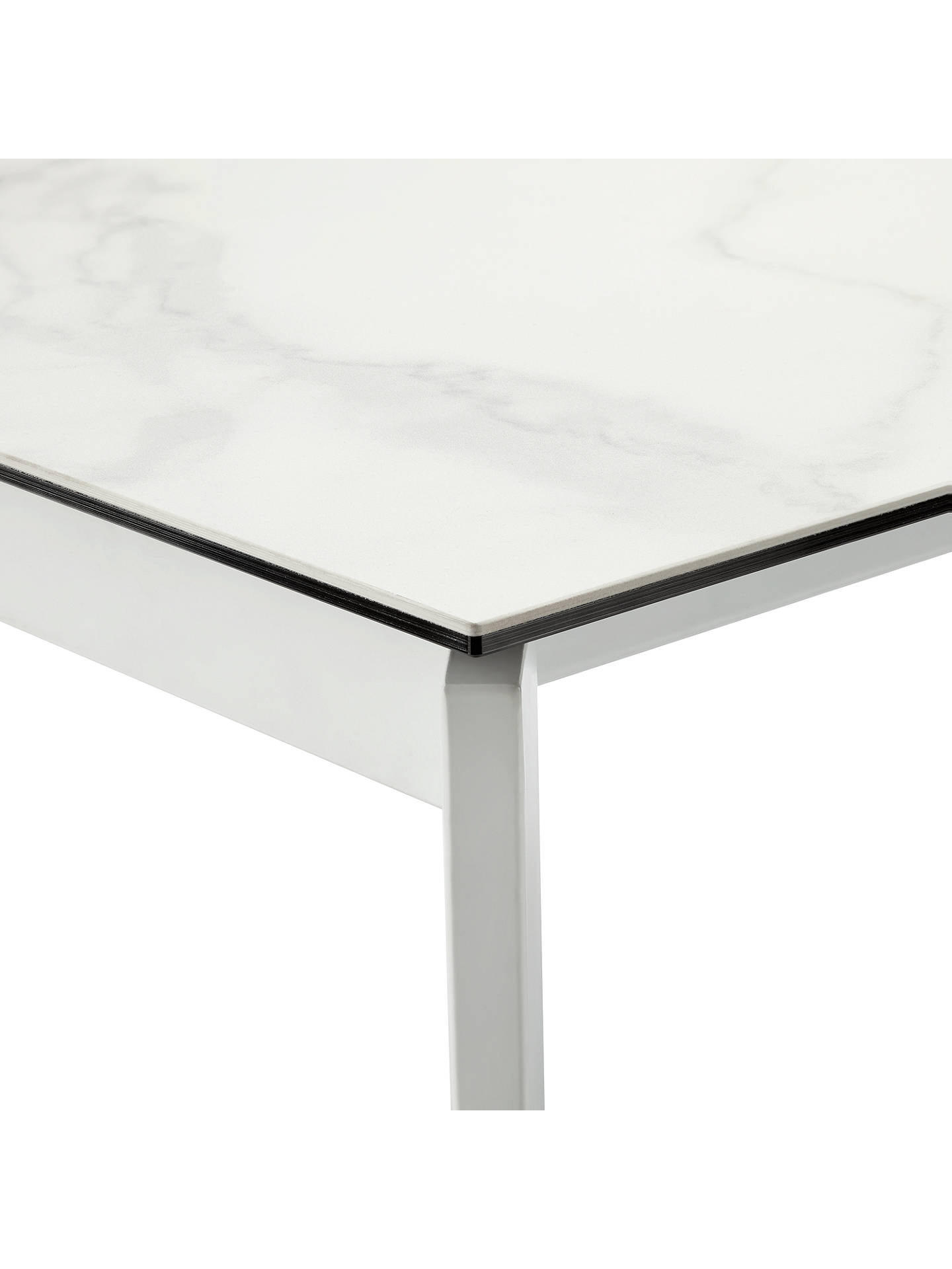 BuyJohn Lewis & Partners Odyssey 6-10 Seater Ceramic Top Extending Dining Table, White/Marbled Online at johnlewis.com