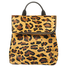 Buy Whistles Mini Verity Backpack, Leopard Print Online at johnlewis.com