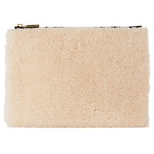 Buy Whistles Shearling Medium Clutch, Cream/Multi Online at johnlewis.com