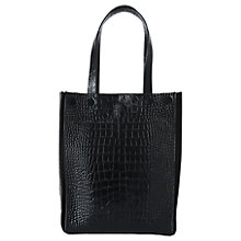 Buy Whistles Croc Tote Bag, Black Online at johnlewis.com