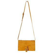 Buy Whistles Zora Leather Suede Ring Bag, Yellow Online at johnlewis.com