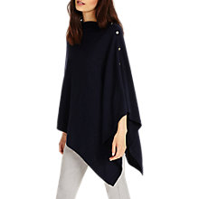 Buy Phase Eight Cashmere Blend Button Wrap, Navy Online at johnlewis.com