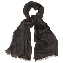 Buy Phase Eight Verity Scarf, Black Online at johnlewis.com
