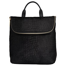 Buy Whistles Zora Le Suede Ring Bag, Black Online at johnlewis.com