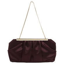 Buy Phase Eight Fifi Satin Clutch Bag, Fig Online at johnlewis.com