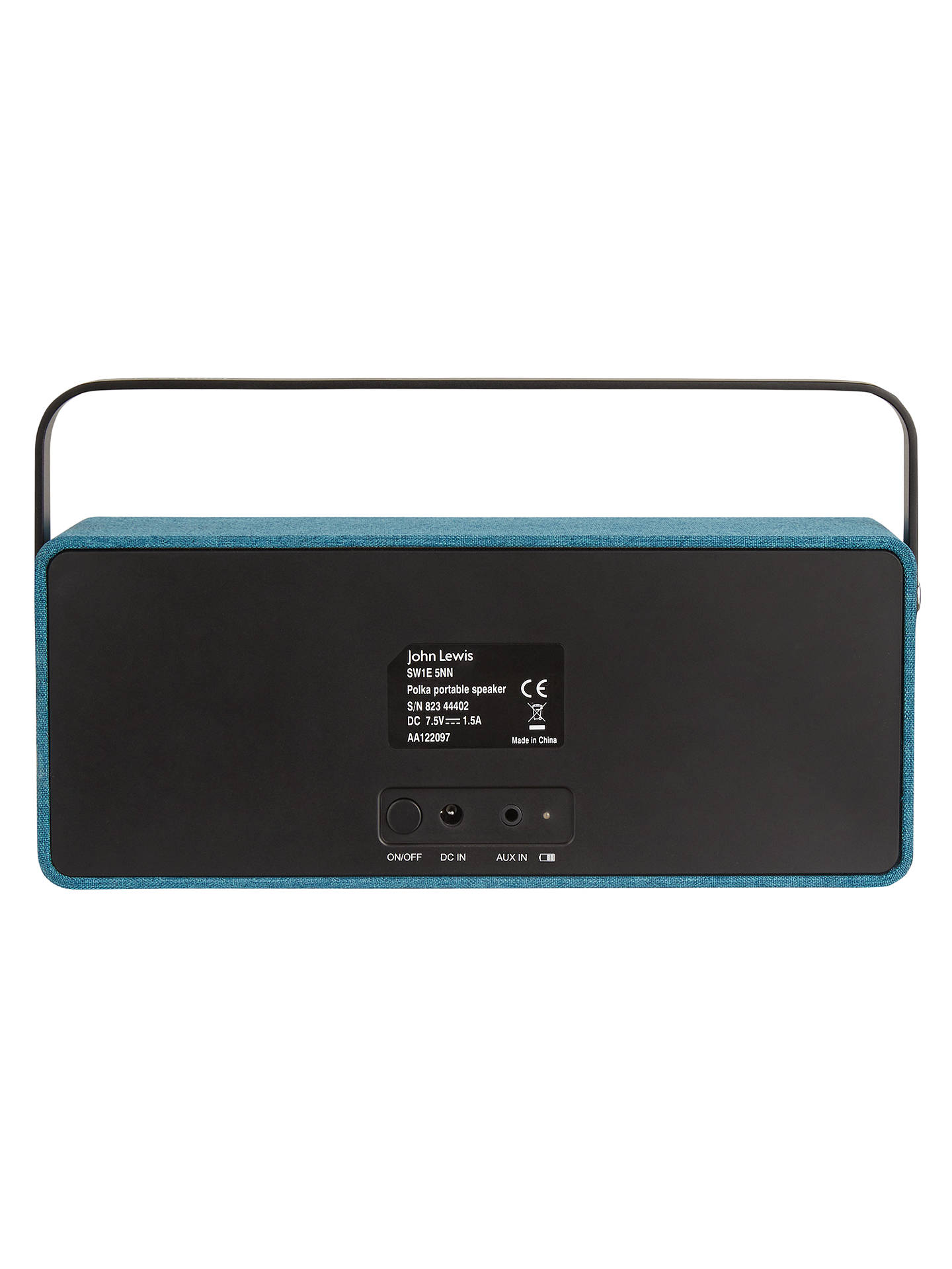 John Lewis Partners Polka Portable Bluetooth Speaker At Advance Komputer Duo 30 Buyjohn Teal Online Johnlewis