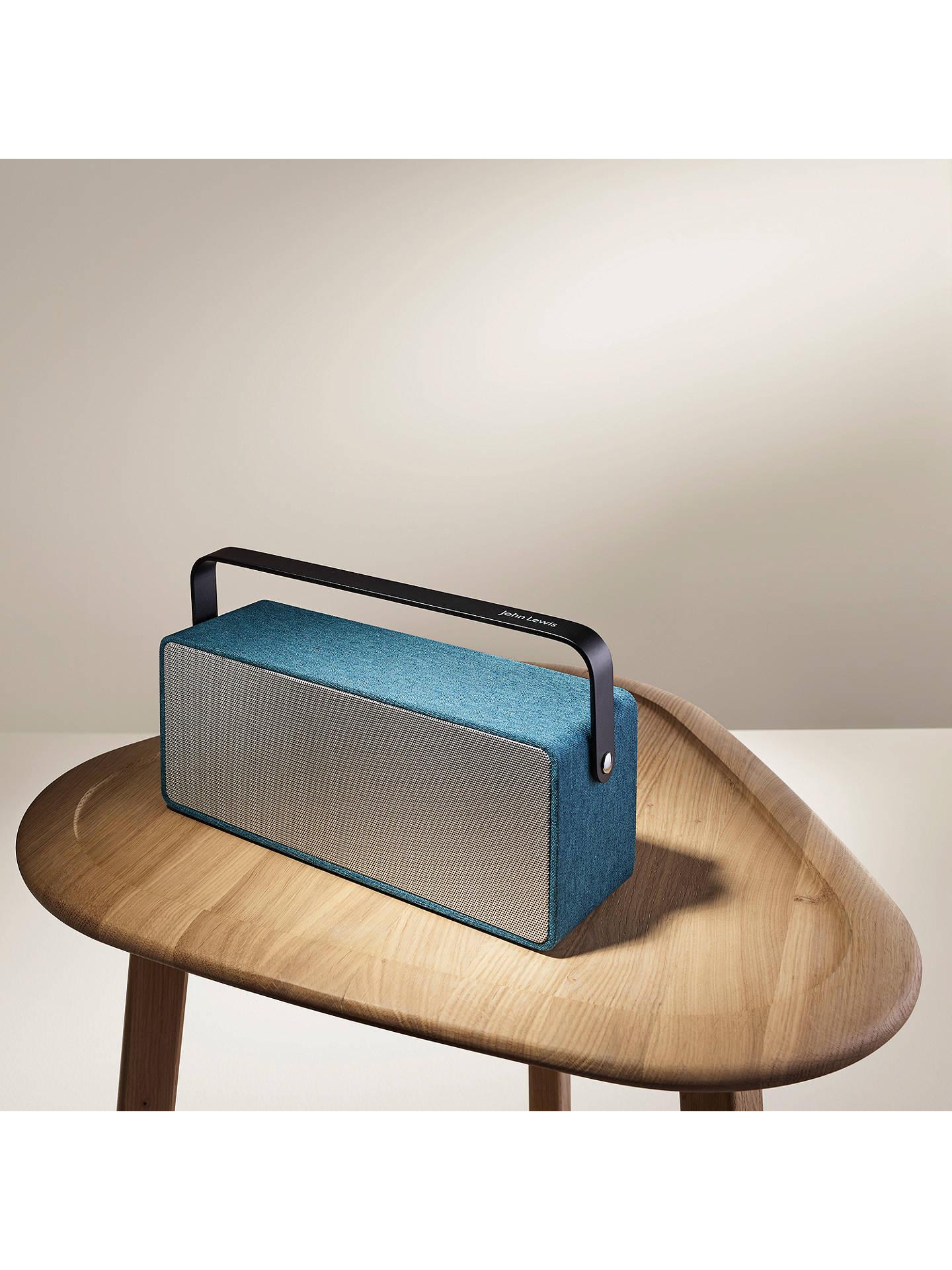 John Lewis & Partners Polka Portable Bluetooth Speaker, Teal