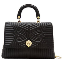 Buy Ted Baker Vivida Leather Quilted Grab Bag, Black Online at johnlewis.com