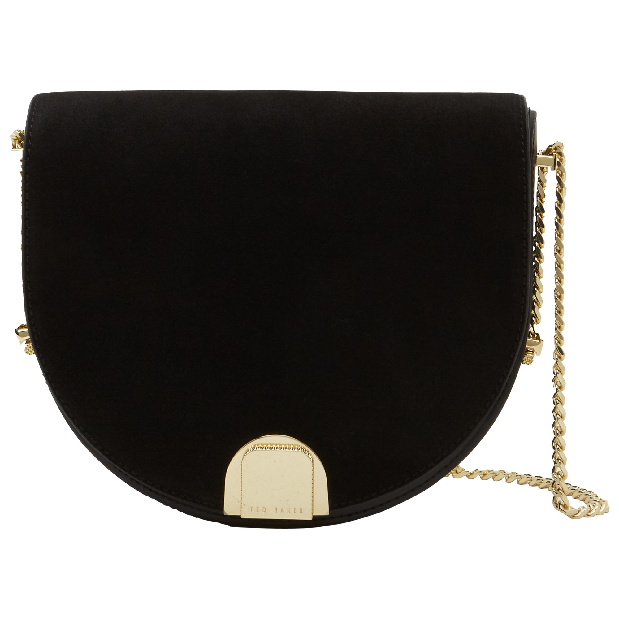 9071c5ca70 Ted Baker Flossi Mini Suede Moon Bag at John Lewis & Partners