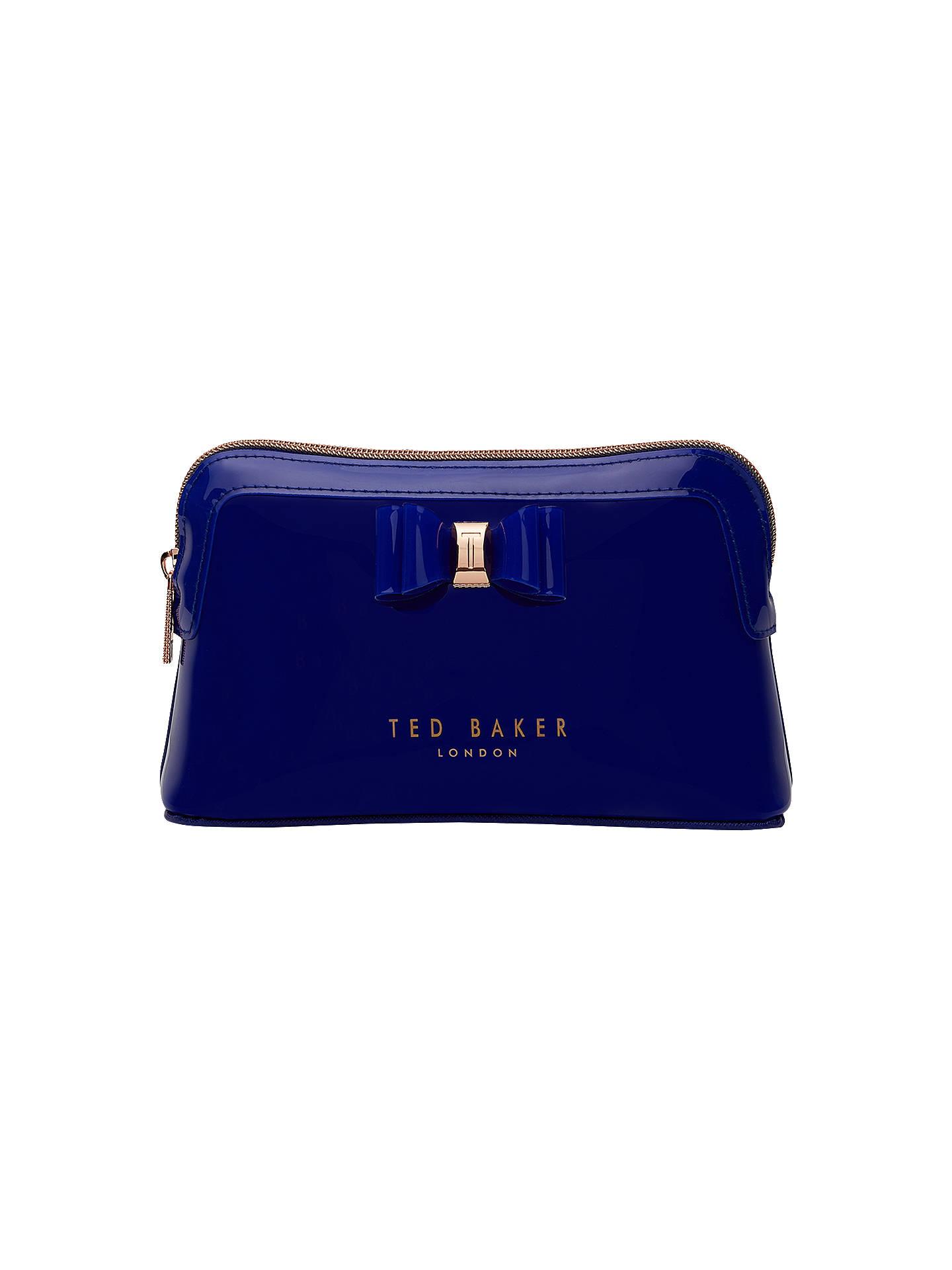 faa72296e7a Buy Ted Baker Julis Bow Makeup Bag, Bright Blue Online at johnlewis.com ...
