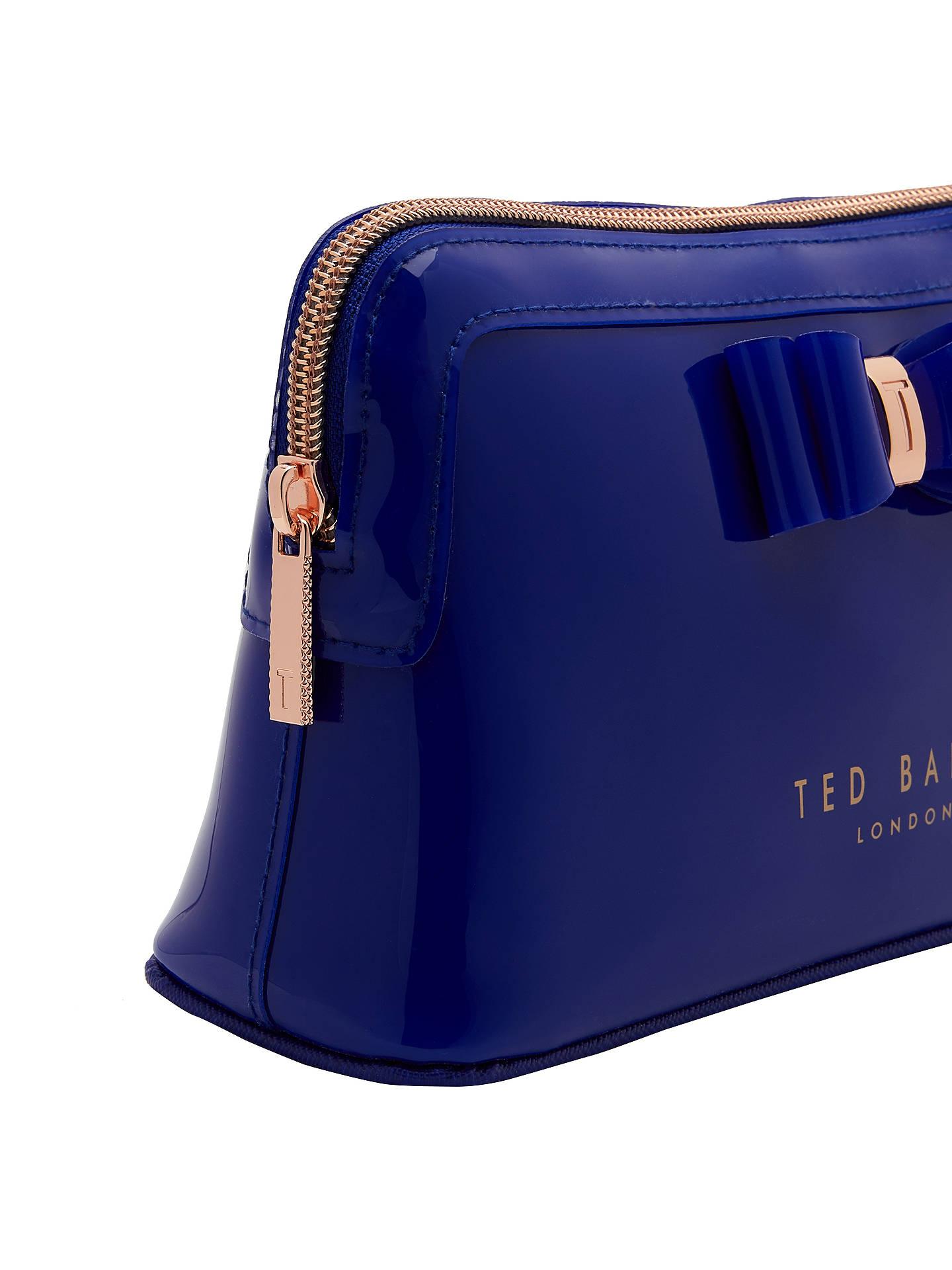 9dfd6937b0a ... Buy Ted Baker Julis Bow Makeup Bag, Bright Blue Online at johnlewis.com