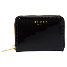 Buy Ted Baker Patent Leather Zip Around Purse Online at johnlewis.com