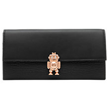 Buy Ted Baker Jemo Robot Leather Matinee Purse, Black Online at johnlewis.com