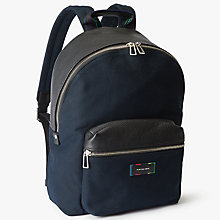 Buy PS by Paul Smith Canvas Backpack, Black Online at johnlewis.com