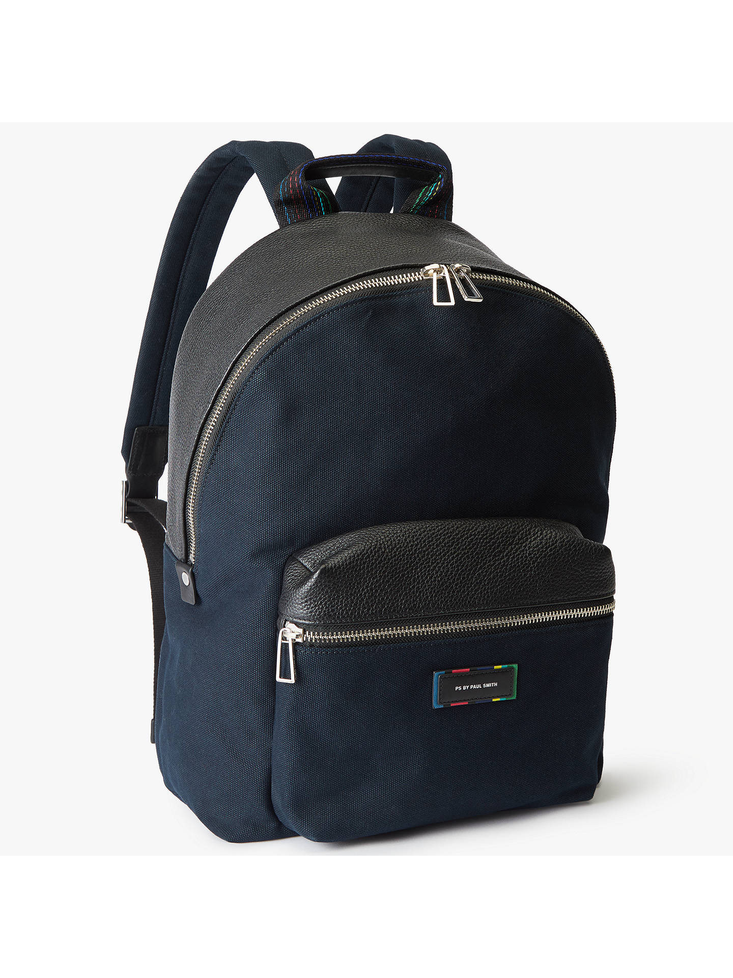 e02048b6b543 BuyPS Paul Smith Canvas Backpack, Black Online at johnlewis.com ...