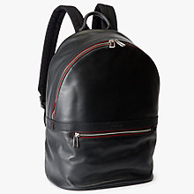 Buy PS by Paul Smith Calf Leather Backpack, Black Online at johnlewis.com