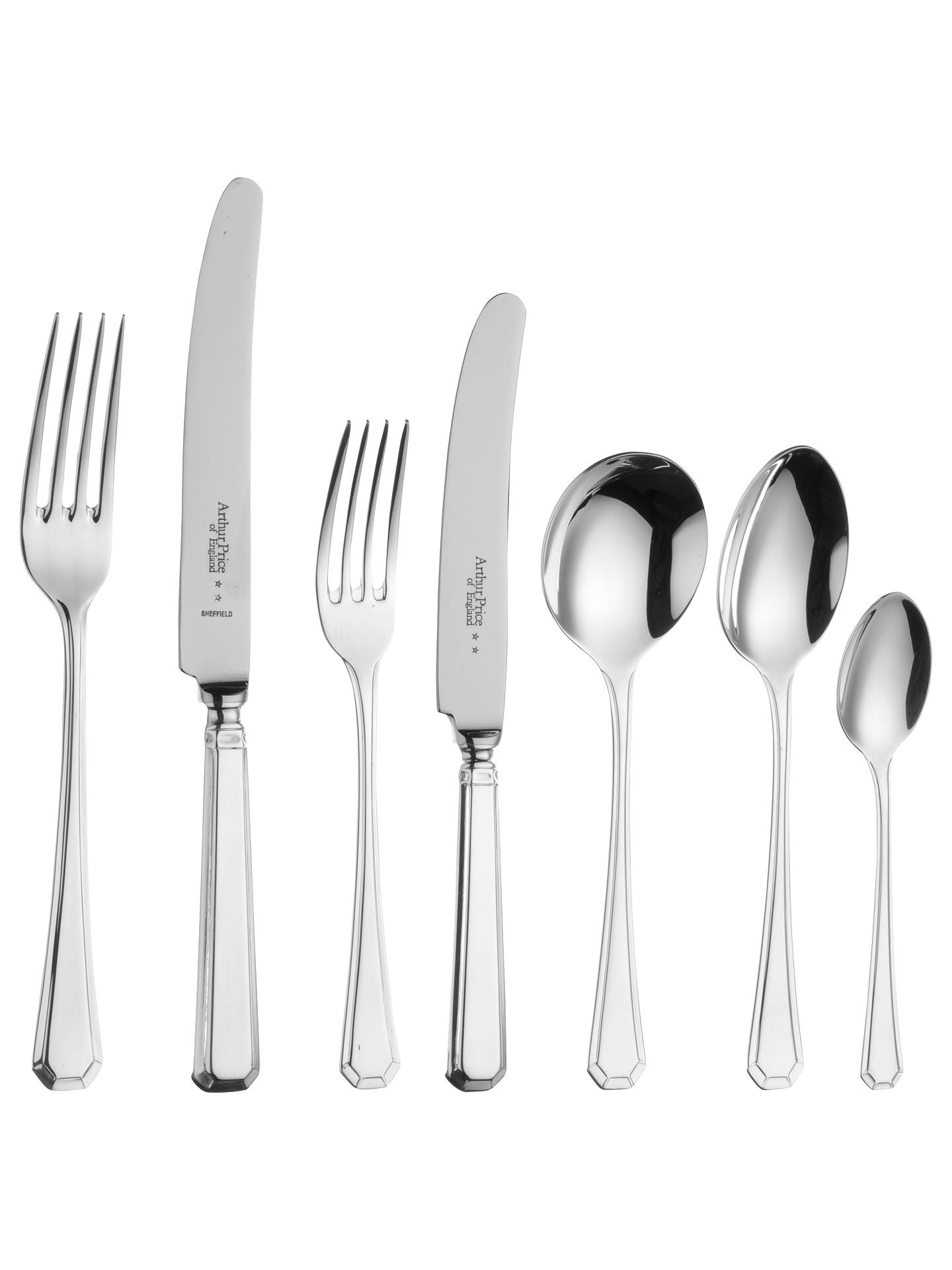 Buy Arthur Price Grecian Stainless Steel Cutlery Set, 56 Piece Online at johnlewis.com