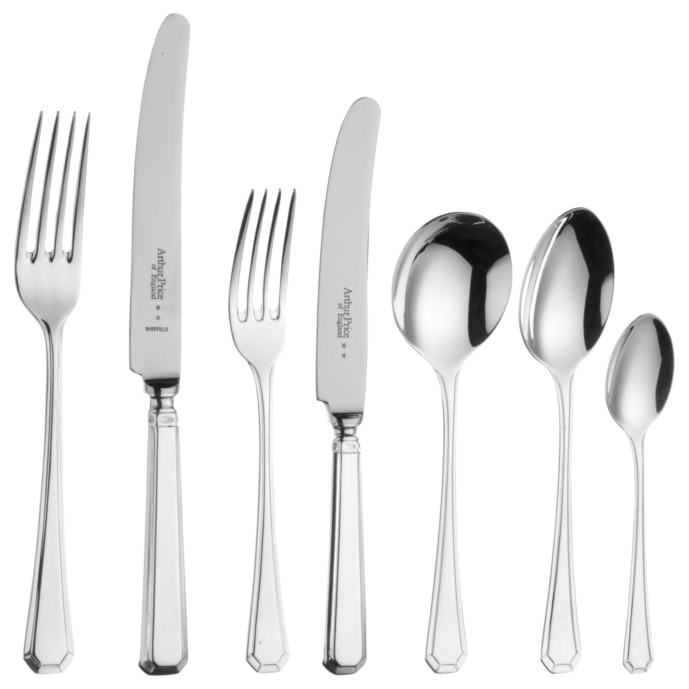 Arthur Price Arthur Price Grecian Stainless Steel Cutlery Set, 56 Piece