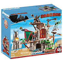 Buy Playmobil Dragons Berk Island Fortress Play Set Online at johnlewis.com