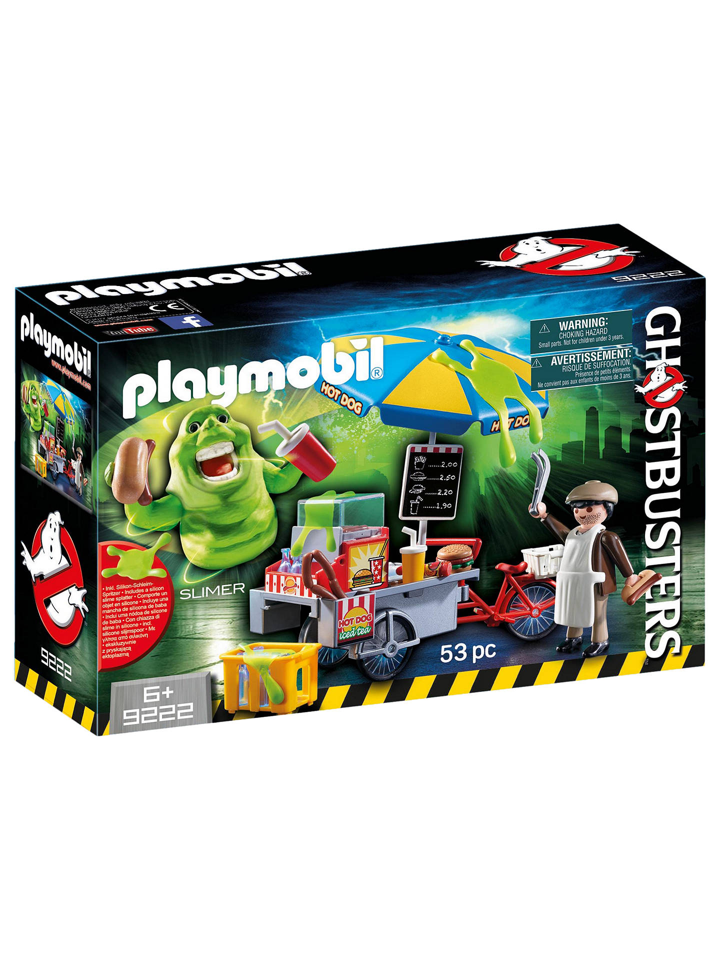 Buy Playmobil Ghostbusters Hot Dog Stand Slimer Play Set Online at johnlewis.com