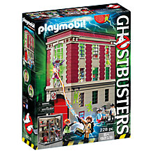 Buy Playmobil Ghostbusters Fire House Headquarters Play Set Online at johnlewis.com
