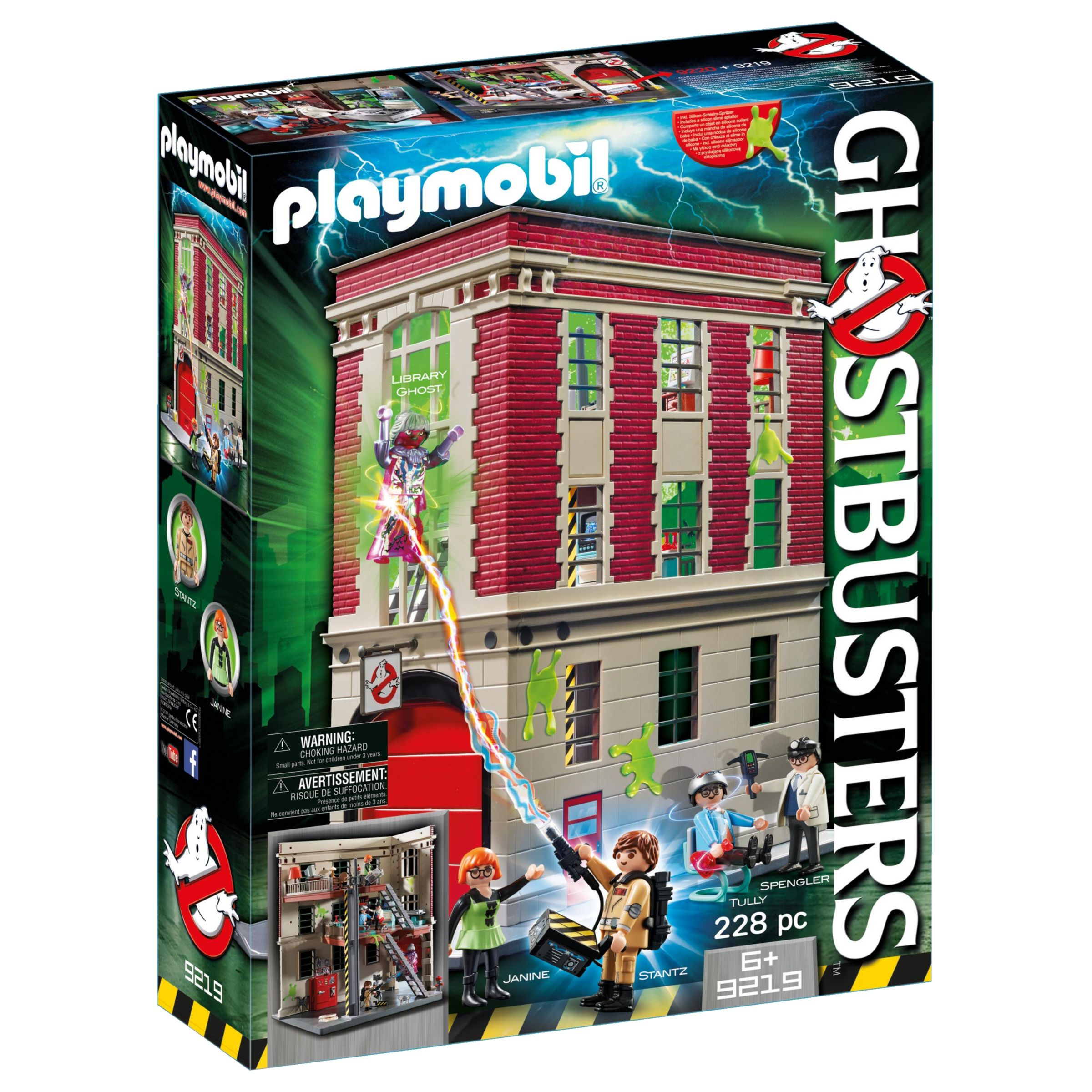 PLAYMOBIL Playmobil Ghostbusters Fire House Headquarters Play Set