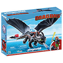 Buy Playmobil Dragons Hiccup And Toothless Play Set Online at johnlewis.com