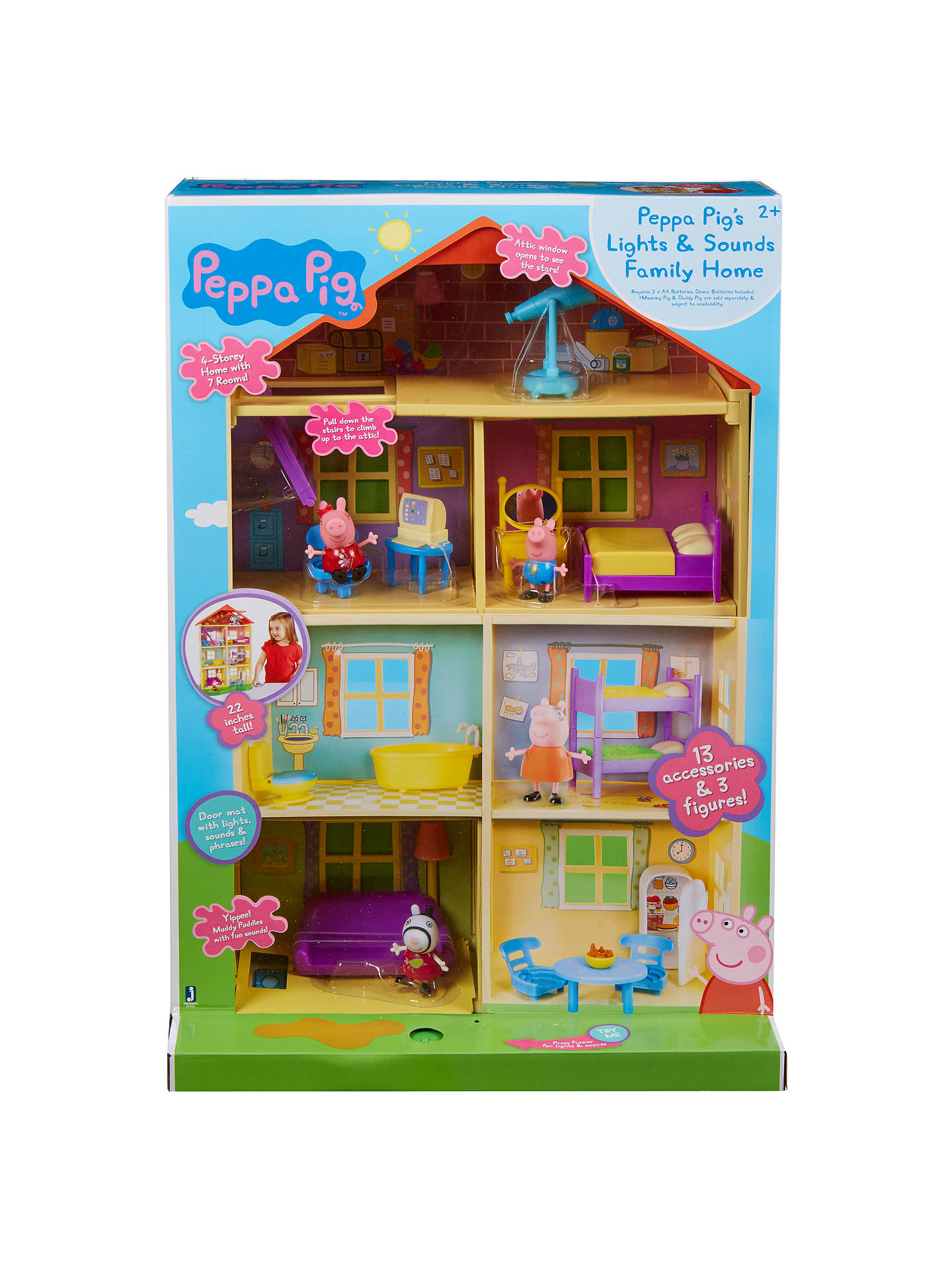 Peppa Pig's Lights & Sounds Family Home