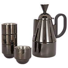 Buy Tom Dixon Brew Stove Top Coffee Maker Set, Black Online at johnlewis.com