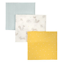 Buy John Lewis Baby Forest Friends XL Muslin Cloths, Pack of 3, Multi Online at johnlewis.com