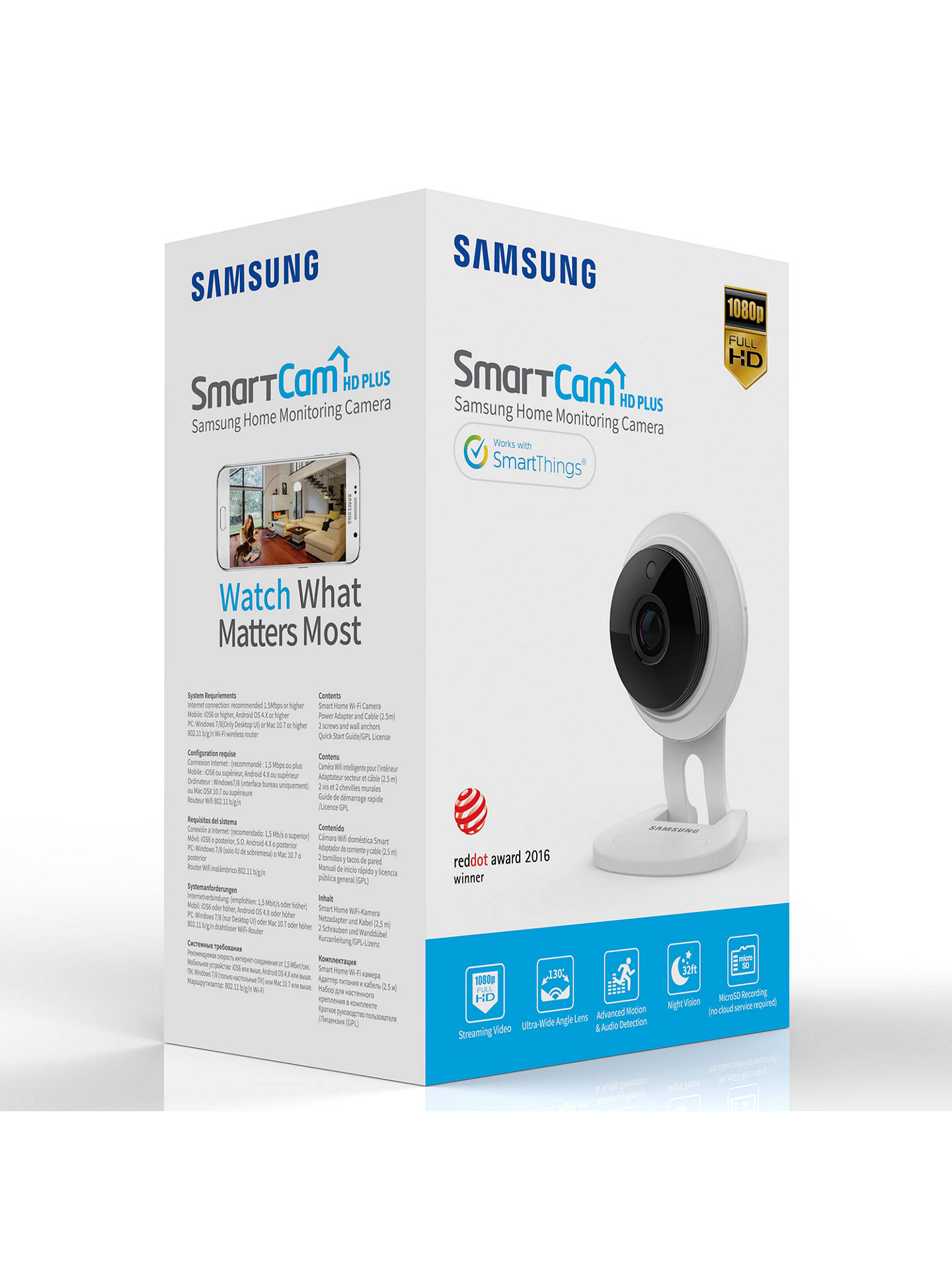 Samsung Smartcam HD PLUS 1080p Wi-Fi Camera