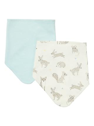 John Lewis & Partners Baby Forest Friends Dribble Bib, Pack of 2, Multi