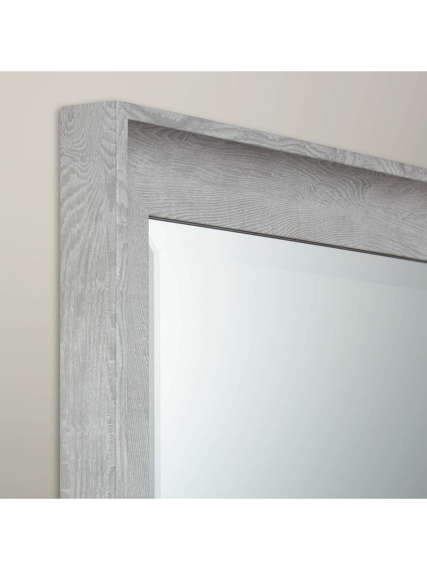 472d8298a073 ... Buy John Lewis & Partners Coastal Textured Full Length Mirror, 120 x  40cm, Grey ...