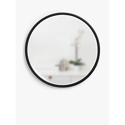 Umbra Rubber Hub Round Mirror, Dia.60cm, Black