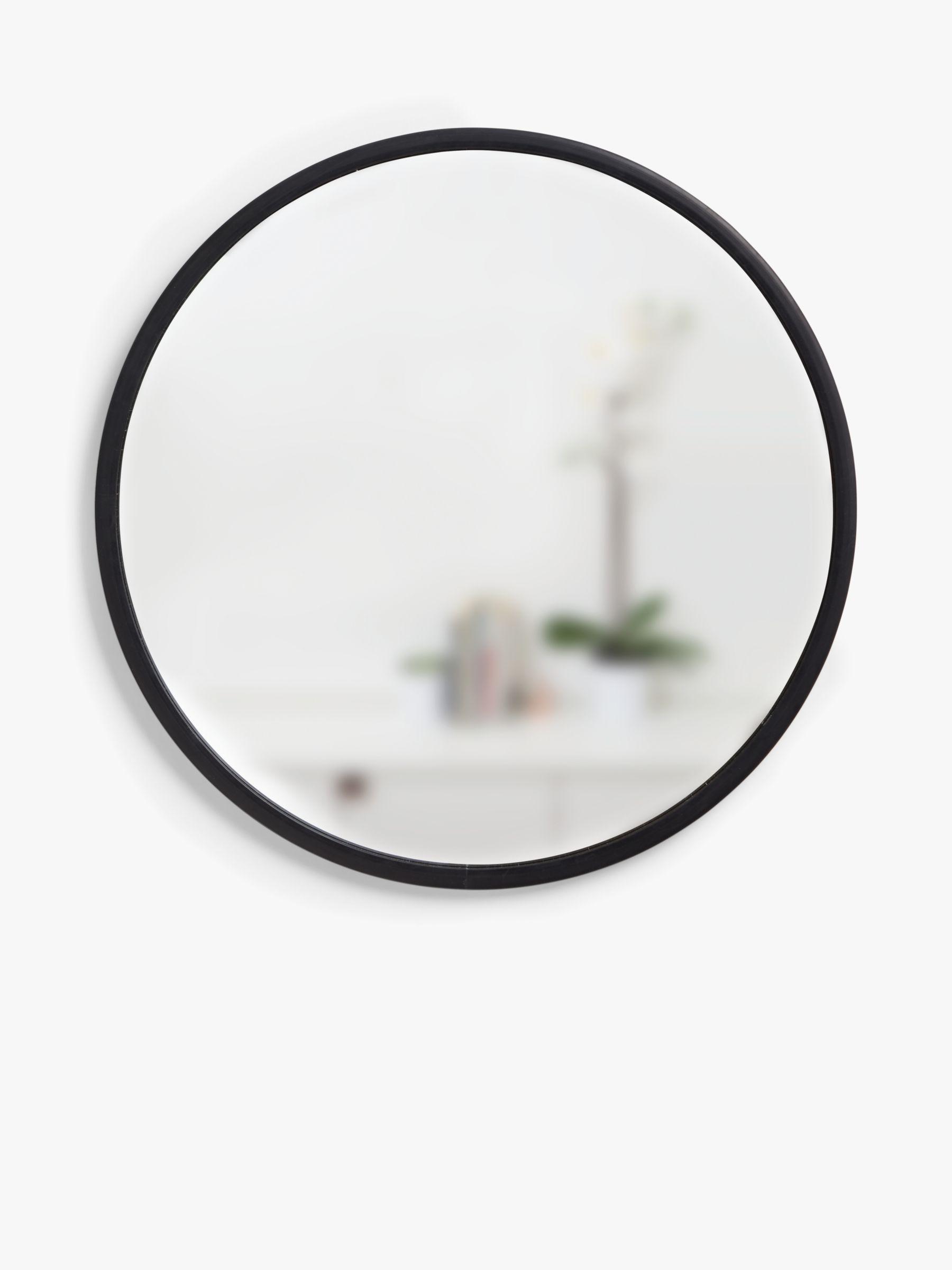 Umbra Umbra Rubber Hub Round Mirror, Dia.60cm, Black