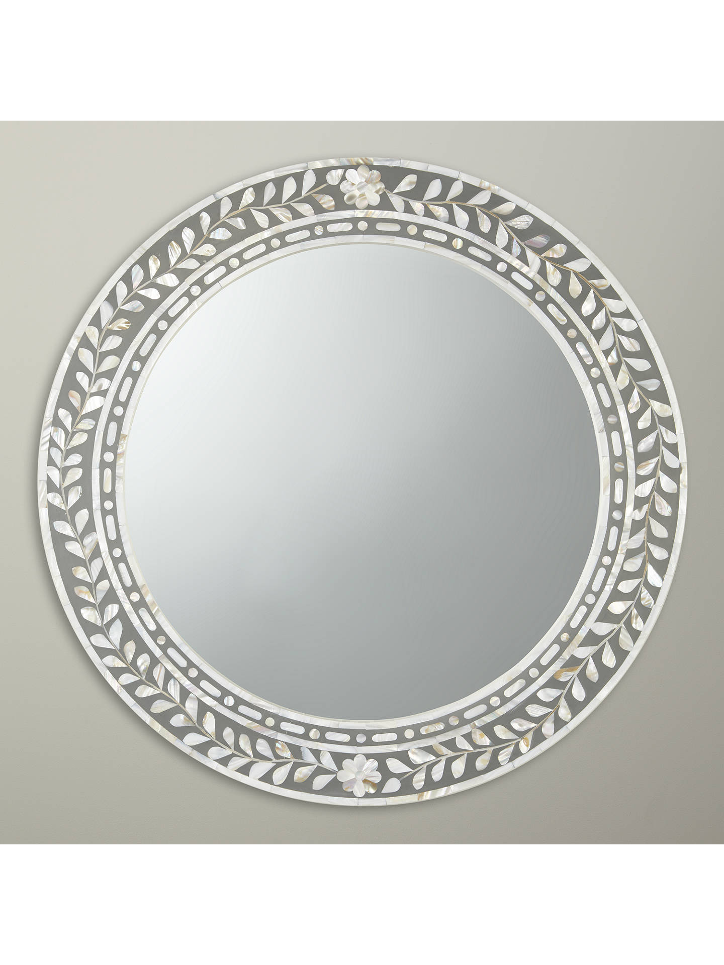 Buyjohn lewis partners mother of pearl round mirror dia 60cm natural online