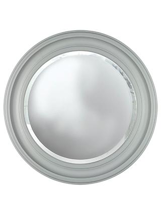 Croft Collection Large Porthole Round Mirror, Dia.68cm, Grey